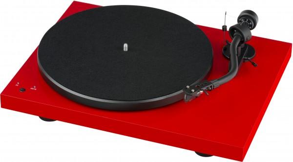 Pro-Ject Debut SB S-Shape mit Pick it S2 glänzend rot